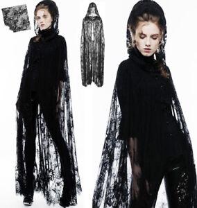 Gothique Cape Capuche Mystique Veste Dentelle Punkrave Punk Lolita Longue Fleuri pqqB6wS