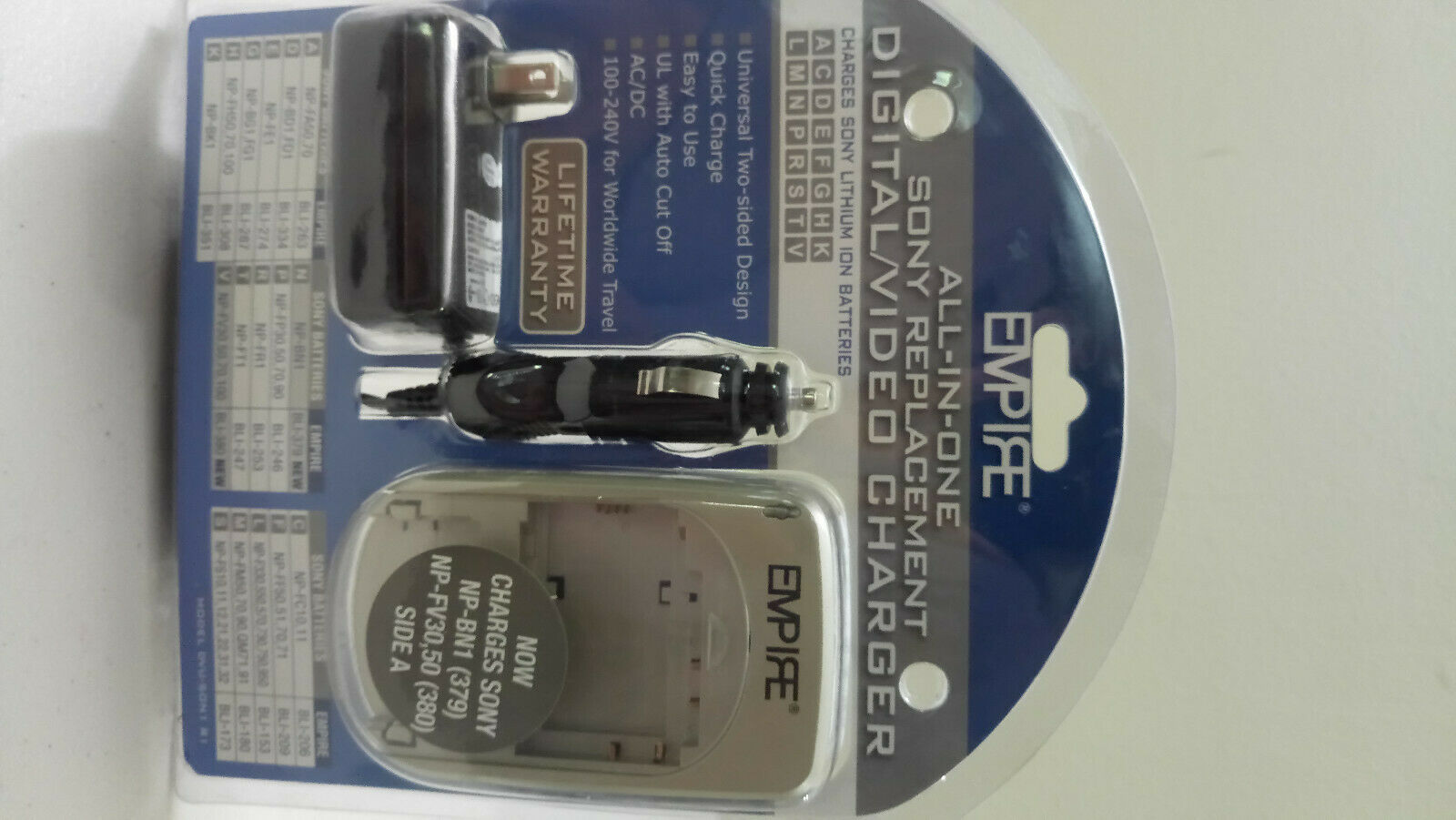 EMPIRE Sony-All In One Replacement Digital/Video Charger- Model R1