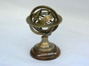 Collectible-Vintage-Sphere-Armillary-Nautical-Antique-Globe-Table-Top-Armillary
