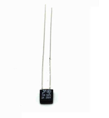 10 Pcs Nouveau aupo Thermal Fuse coupure TF 130 ℃ 250 V 2 A A4-F