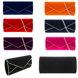 Ladies Velvet Designer Envelope Style Clutch Bag Evening Clutch Bag K(09179-2)