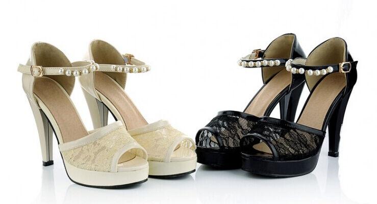 Último gran descuento Scarpe ciabatte  sandali tacco alto 11.5 cm bianco nero elegante 9306