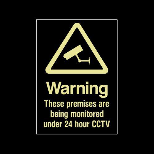 tutte le taglie sicurezza misc10 Fotocamera CCTV Photoluminescent plastica segno // Adesivo