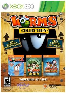 Worms-Collection-Microsoft-Xbox-360-2013-New-Sealed