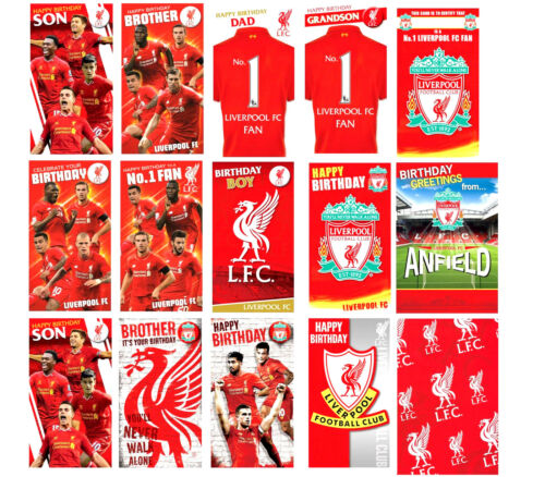 Official Liverpool Fc Football Birthday Cards Son Brother Dad Other
