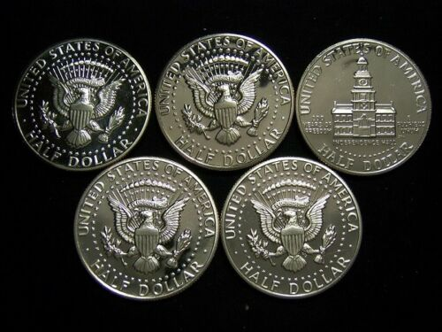 1973S,1974S,1976S,1977S,1978S Kennedy proof half dollars