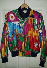 Silkworm's High Fashion VTG Abstract horses jockey equestrian floral XL jacket