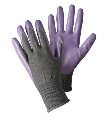 BRIERS GARDENING GLOVES SEED AND WEED GARDENERS MEDIUM LAVENDER FREEPOST!