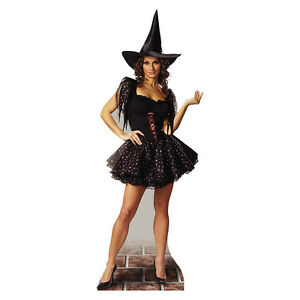 GLITTER-WITCH-Lifesize-CARDBOARD-CUTOUT-Standup-Standee-Scary-Halloween-Prop-F-S