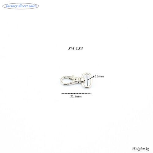 Homard pivotant fermoirs clips Sac Porte-clés crochet Findings Porte-clés Argent 10-1000x