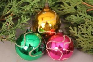 Christbaumschmuck Weihnachtskugeln Set Handbemalt Bunt Filigran
