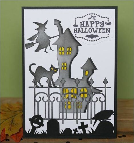Elizabeth Crafts Designs Cutting Die Set ~ HAUNTED HOUSE SET  Halloween ~1401