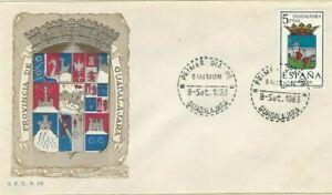 FDC-Erste-Dia-Spanien-1963-Wappen-Guadalajara