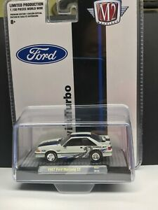 M2 Machines 2020 Hobby Exclusive 1987 FORD MUSTANG GT Twin Turbo Cobra Jet HS07