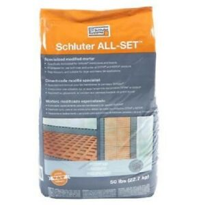 SCHLUTER-ALL-SET-White-50-lbs-bag-MODIFIED-THIN-SET-MORTAR