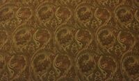 P Kaufmann Farrell Brown D4093 Floral Paisley Damask Fabric By The Yard 54w