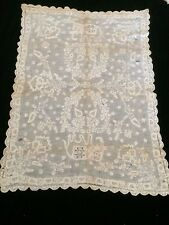 Antique French Embroidery Sample  Appenzell Swiss Whitework Lace Figural As Is