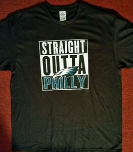 Image is loading PHILADELPHIA-EAGLES-Black-T-Shirts-Straight-Outta-Philly- 8e5b1a4bc