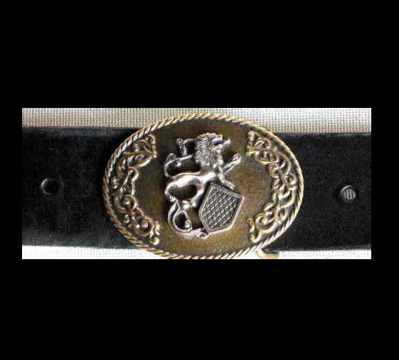 1a SattlerqualitÄt 4cm Gürtel Leder Ledergürtel Neu Wappen Adel Heraldik Top Ls#
