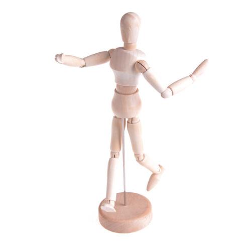 Wooden Human Mannequin Manikin Sketch Model Art Unisex Model new.