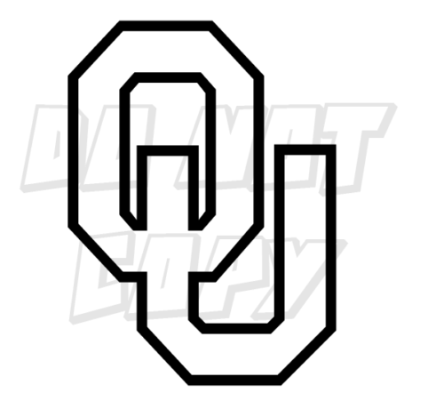Details About Ou Oklahoma University Sooner Football Vinyl Decal Stickers Made In Usa