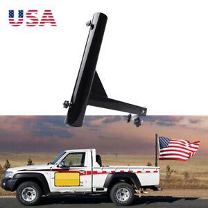 Upgrade-Hitch-Mount-Flag-Pole-Holder-Trailer-2-034-Receiver-RV-Camper-Anti-Wobble