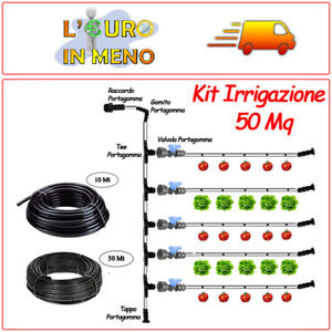Dettagli Su Kit Impianto Irrigazione Modulare Orto Ala Gocciolante Dual 50 Mq Ampliabile
