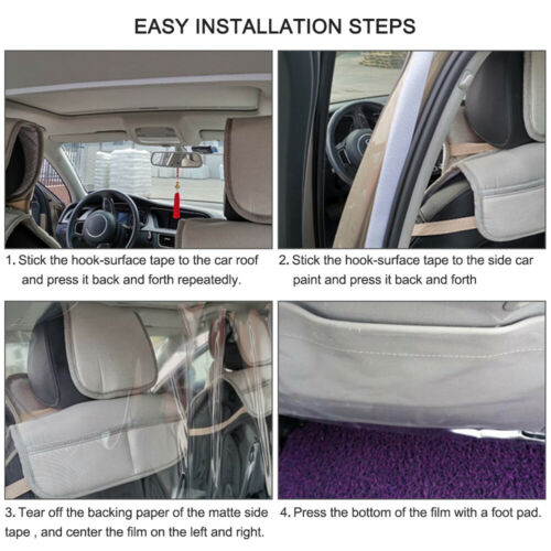 Car Taxi Uber Film Isolation Partition Transparent Super Shield Protective Cover