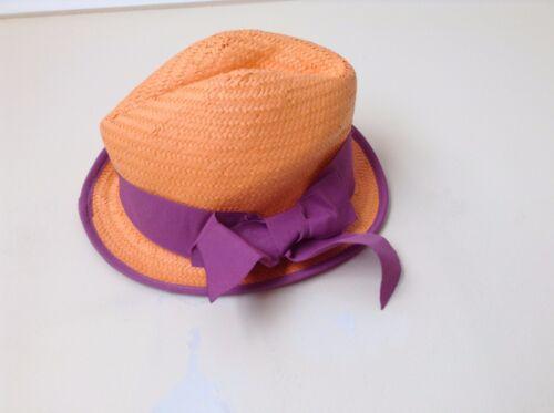 Next Girl`s Sun Hat Trilby Orange Size 3-6,7-10,11-13yrs