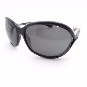 70d365c5108 Tom Ford Jennifer TF 8 199 Shiny Black Grey New Authentic Sunglasses ...