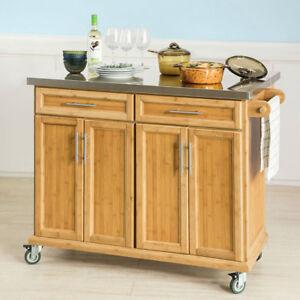 Dettagli su SoBuy Carrello Cucina Credenza Legno Piano  Lavoro,allungabile,FKW69-N,IT