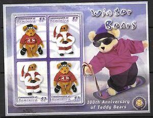 DOMINICA SGMS3319 2003 TEDDY BEARS MNH