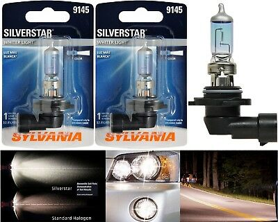 Sylvania Silverstar ZXE H10 9145 45W Two Bulbs Fog Light Upgrade Replacement
