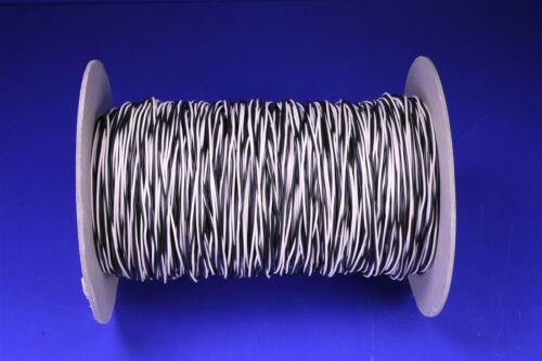 1,000/' 22 AWG Tinned Copper Hook-Up Wire Twisted Pair Black /& White Mil-Spec