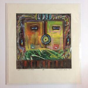 Original-Ronald-A-Chee-Pastel-Art-Yeii-Yellow-Jacket-People-1-1-SIGNED