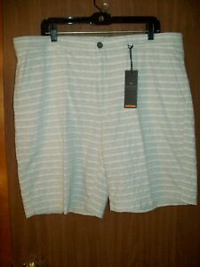 90406e4762 Details about NEW MEN'S MARC ANTHONY TEXTURE SHORTS SIZE 40 SLIM FIT GRAY  WHITE STRIPE