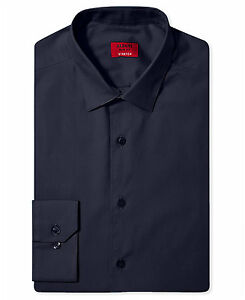NWT $95 ALFANI Men SLIM-FIT STRETCH WHITE LONG-SLEEVE DRESS SHIRT 13-13.5 32//33