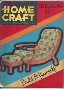 Popular Home Craft Magazine December 1936 Workshop Inlaid Coffee Table