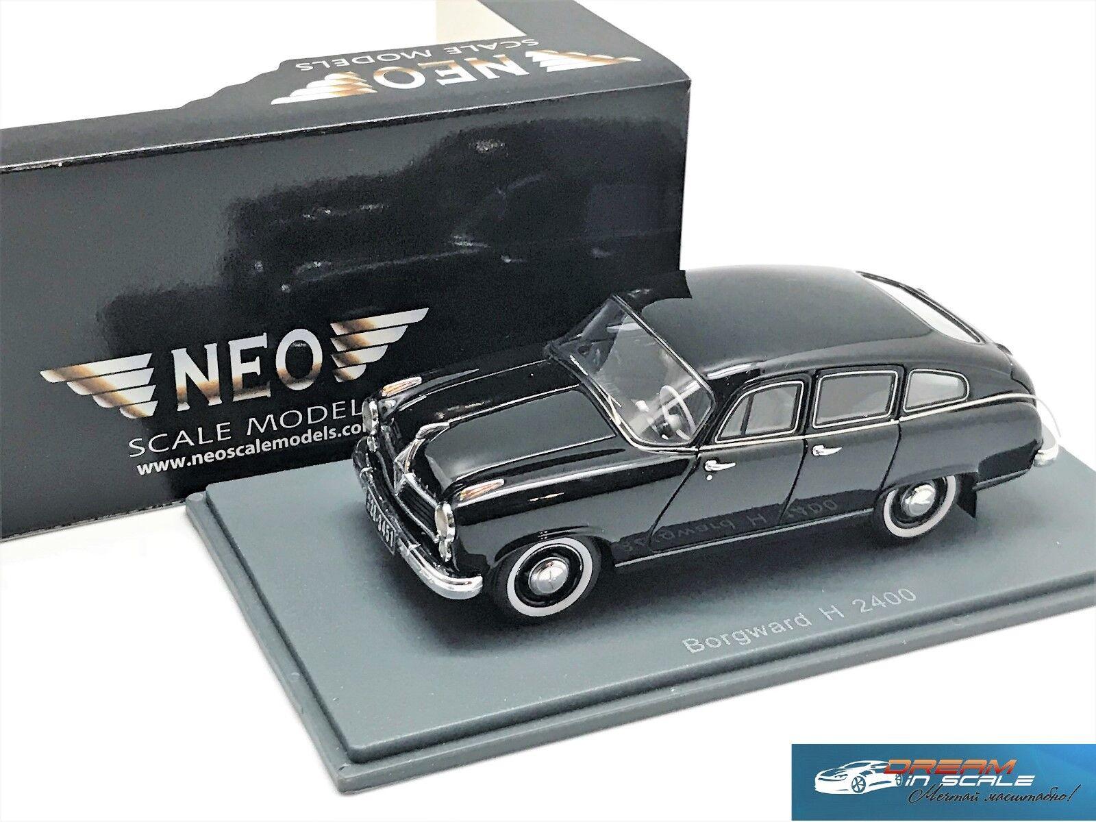 Borgward Hansa 2400 nero 1955 NEO43451 1 43