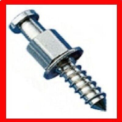 10 x MINAX Maschineschrauben Persenningknopf NEU Messing vernickelt M4x12