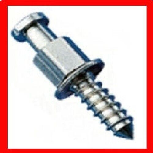 10 x MINAX Schraube für Polyester Messing vernickelt Persenningknopf NEU