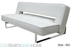 Contemporary Futon   Sofa Sleeper   Modern Full size Bed | eBay