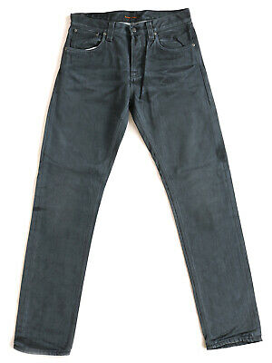 Generoso Nuovo   Nudie Jeans Uomo-pantaloni   Steady Eddie   Regular Tapered Fit   W32 L34-mostra Il Titolo Originale