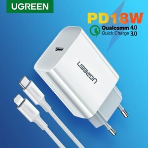 Ugreen-18W-PD-Fast-USB-Charger-QC-4-0-3-0-USB-Type-C-Charger-For-Apple-Huawei