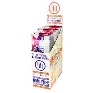 High-Hemp-Organic-Wrap-Hubbabubba-Full-Box-25-Pouches-2-Wraps-per-Pouch
