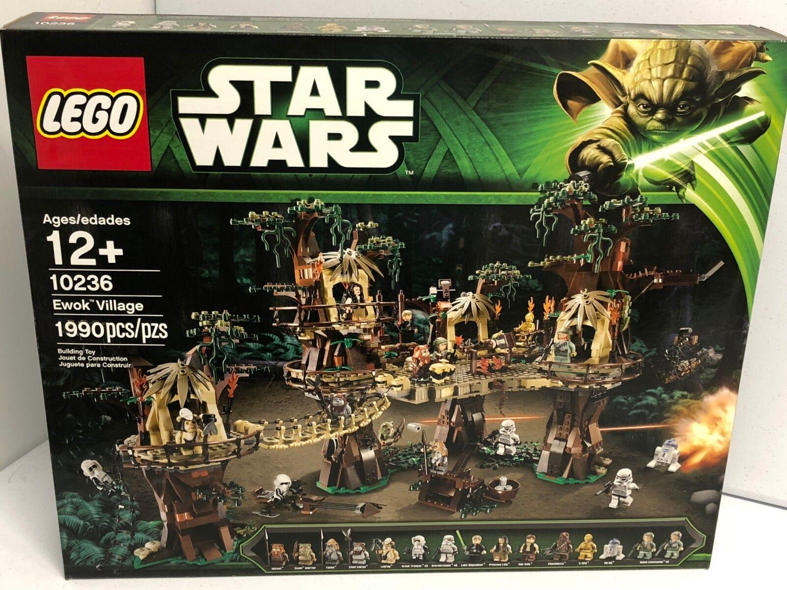 Lego 10236 Ewok village 17 figures retraité Difficile à trouver NEUF boîte scellée 1990 pcs