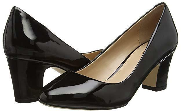 CARVELA APRIL Größe 5 38 schwarz PATENT MID HEEL FORMAL COURT schuhe OFFICE BUSINESS