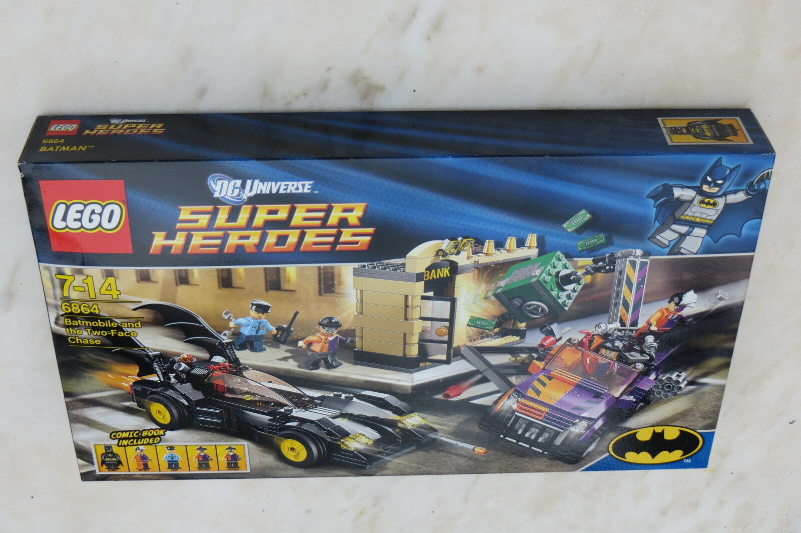 Lego New Sealed  Super Heroes 6864 Batmobile and and and the Two Face Chase 32e754