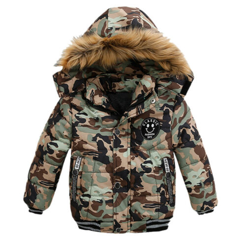 Baby Boys Coat Children Winter Jacket Outwear Kids Jacket Warm Hooded Clothes KO