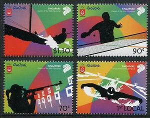 Rio Summer Olympics set of 4 mnh stamps 2016 Singapore #1785-8